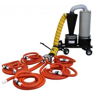 TX-DCS-MU5-5 Way, Multi-user Portable Dust Collection System
